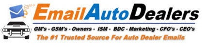 Email Auto Dealers - Auto Dealer Email List Database